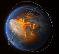 להקת לוויינים. איור: סוכנות החלל האירופית