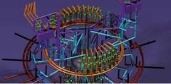 הדמיית רכיב בתחנת כוח גרעינית. מתוך אתר דאסו סיסטמס.