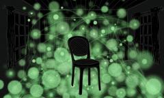 מדענים מאוניברסיטת טקסס הצליחו לפתח שיטה מיקרוסקופית חדשנית לדימות תלת ממדי של מבנים ביולוגיים ננומטריים, שיטה שהיא אנאלוגית לשימוש בכדור גומי זוהר לקבלת תמונה של כיסא הנמצא בחדר חשוך. [באדיבות Jenna Luecke]