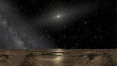 איור אמן של הנוף בכוכב הלכת הננסי סדנה. דיוד גרדס מאוניברסיטת מישיגן אומר כי פני השטח של 2014 UZ224 ייראו דומים.