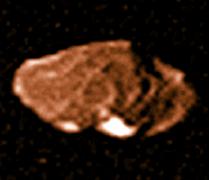 אמלתאה כפי שצולם על ידי אחת החללית וויג'ר 1 ב-1979. מקור: NASA/Calvin J. Hamilton.