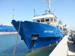 בת-גלים. הספינה שבעזרתה מבוצע המחקר. תצלום: באדיבות צוות המחקר.
