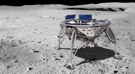 הדמיה של החללית הישראלית לירח. מקור: SpaceIL.