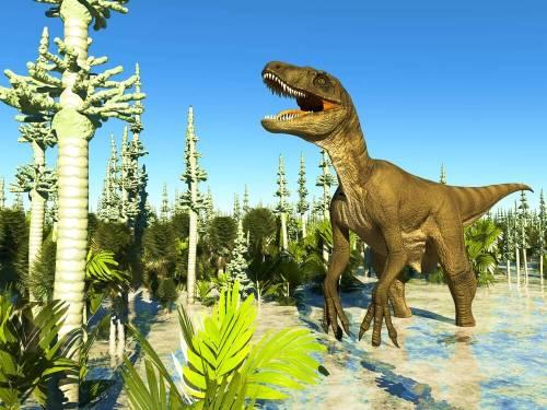 דינוזאור אוכל צמחים. איור: shutterstock