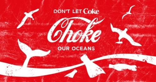 כרזת הקמפיין של ארגון גרינפיס נגד פסולת הפלסטיק