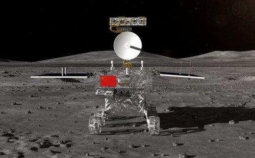 רכב השטח שינחת על הירח יחד עם הנחתת CHANGE 4. איור: האקדמיה הלאומית למדעים של סין
