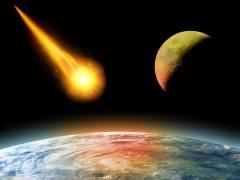 כדור הארץ והירח מופגזים על ידי אסטרואידים בקצב מוגבר. איור: shutterstock