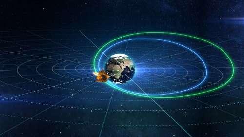 מסלולה הארוך של החללית בראשית אל הירח. איור: SPACEIL