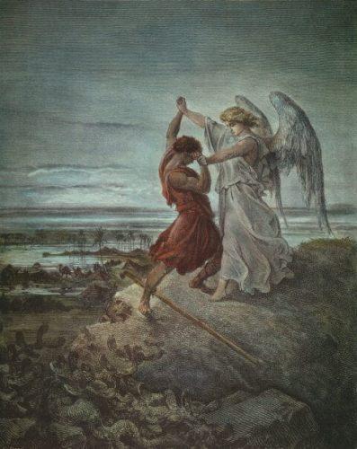 יעקוב נאבק עם המלאך. ציור של גוסטב דורה. נחלת הכלל