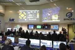 חדר הבקרה של התעשייה האווירית בעת אירוע הנחיתה של החללית בראשית, שבסופו של דבר התרסקה על הירח, 11/4/19. צילום: SpaceIL והתעשייה האווירית.