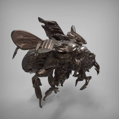יצירת אמנות של איידה - האמנית הרובוטית. צילום: Victor Frankowski