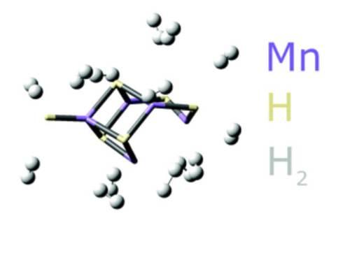 החומר החדשני לאגירת מימן ושחררו בעת הצורך – מנגן, אטומי מימן (H) ומולקולות מימן (H2). באדיבות החוקרים