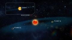 פוטנציאל טוב לקיום חיים. הננס האדום טיגרדן ושני כוכבי הלכת, לצד מערכת השמש שלנו   איור: אוניברסיטת גטינגן