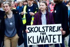 בריסל בלגיה, 21 בפברואר 2019, פעילת האקלים השוודית בת ה-16 גרטה תונברג נוטלת חלק במצעד למען הסביבה והאקלים שאורגן על ידי סטודנטים. צילום: Shutterstock.com