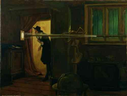 ג'רמיה הורוקס צופה במעבר של נוגה בבטחה (Eyre Crowe, 1891)