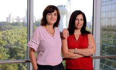 """מימין: ד""""ר ענת בהט ופרופ' רבקה דיקשטיין. פוגעות בחופש הביטוי. צילום: דוברות מכון ויצמן"""