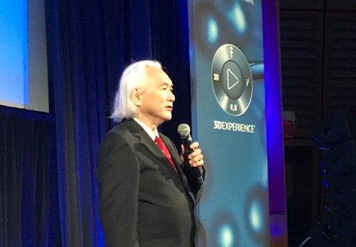 פרופ' מיצ'ו קאקו, פיזיקאי וסופר, חוזה את האינטרנט של המוח. צילום: אבי בליזובסקי