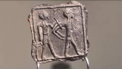 הלוחית הנדירה. צילום אמיל אלגם רשות העתיקות