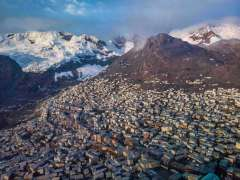 לה רינקונאדה בהרי האנדים שבפרו. אחד המקומות הקשים למחיה בעולם (Axel PITTET - Expedition 5300©)