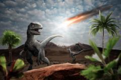 האסטרואיד שגרם להכחדת הדינוזאורים. המחשה: Image by K. Kliche from Pixabay