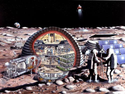 Diagram of a Moon Colony. Was supposed to be built in the 1980s