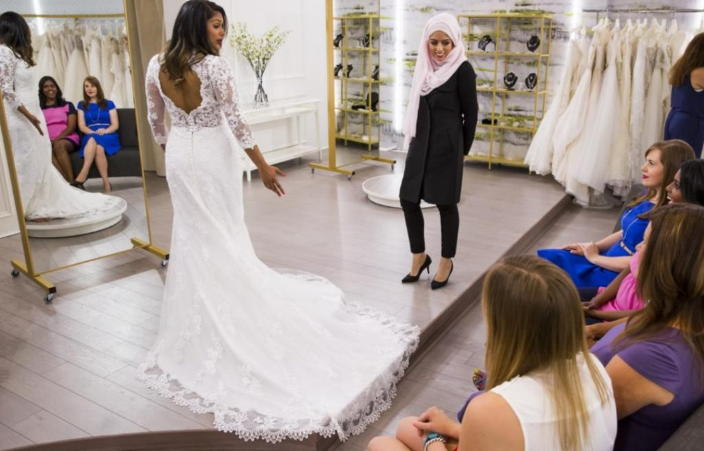 "Rania at work on set of ""Say Yes to the Dress"""