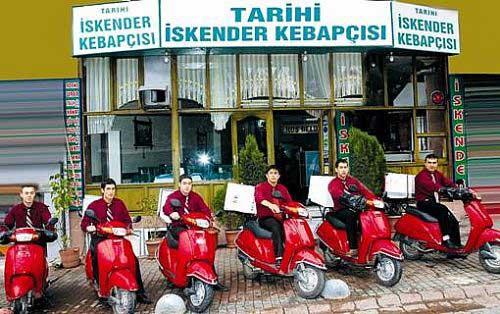Tarihi İskender Kebabçısı'nın web sitesinden alınmıştır.
