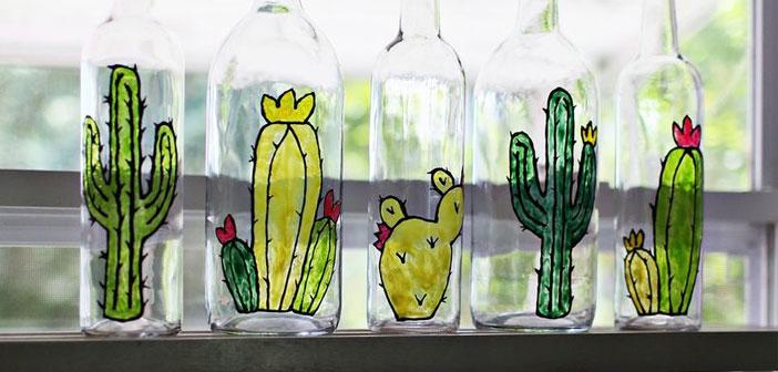 Boş şişelerden Vitray Yapımı