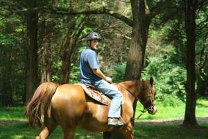 Horsemen Camp - Camper Riding Horse