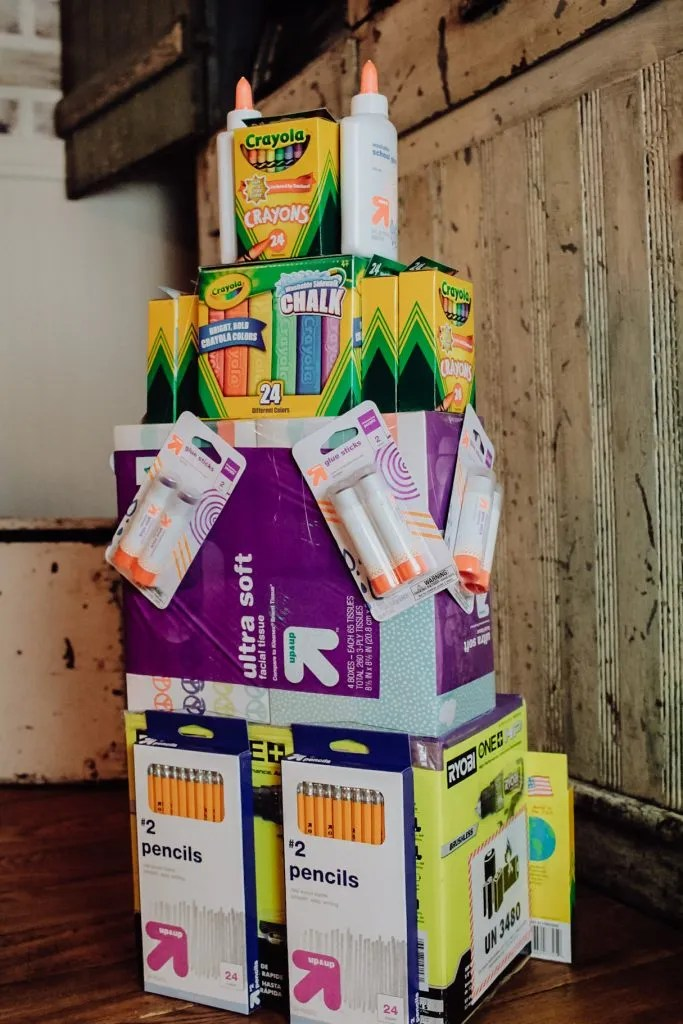 DIY School Supply Cake For Back To School