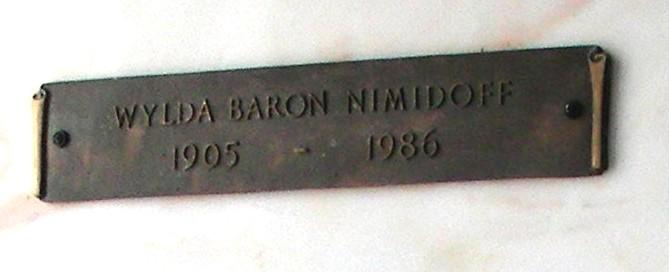 Wylda Baron Nimidoff