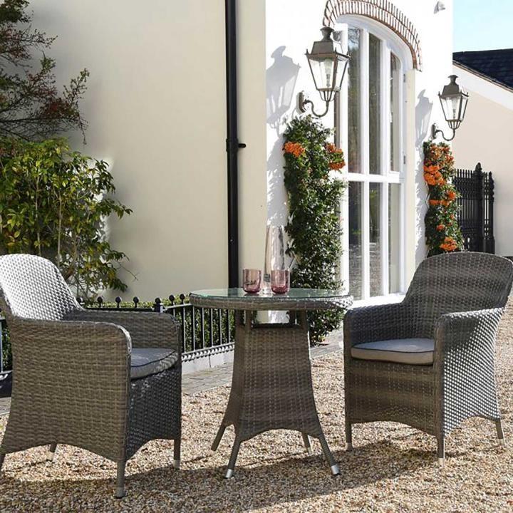 Hartman Ellipse Bistro Set Woven Garden Furniture