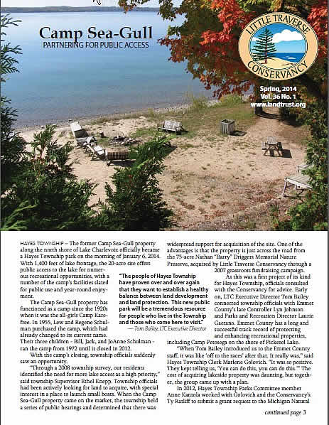 Camp Seagull made the front page