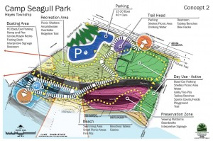 Hayes Township Camp Sea-Gull Park concept plan 2