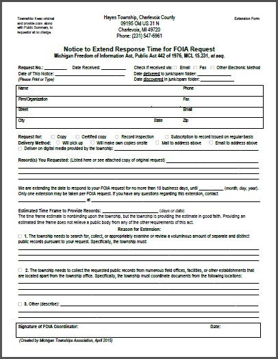 FOIA Extension Form