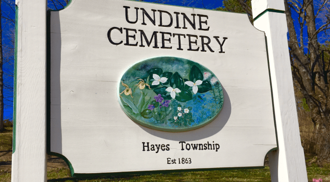 Undine cemetery sign