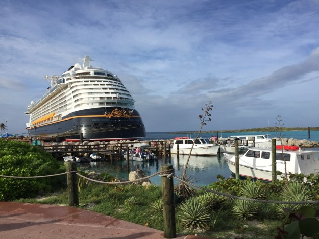 Disney Dream Ship View From Castaway Cay