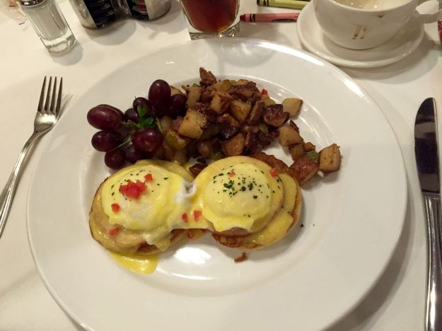 Steakhouse 55 Disneyland Hotel Eggs Benedict