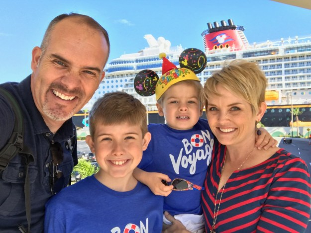 Disney Dream Family Selfie at Port Canaveral