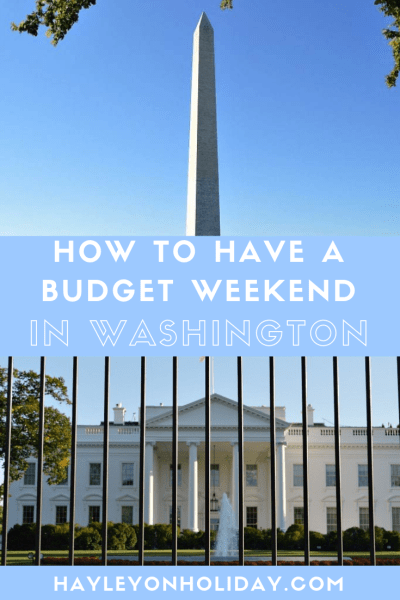 How to have a budget weekend in Washington DC