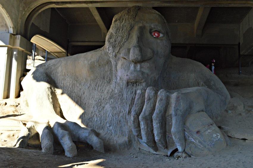 Alternative Seattle: Fremont Troll in Seattle, Washington
