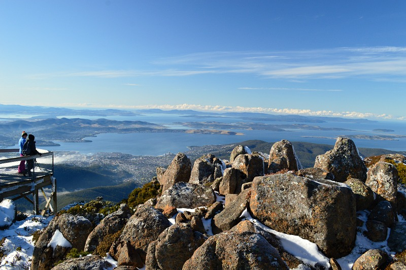 Mount Wellington is must-see when visiting Hobart in Tasmania, Australia