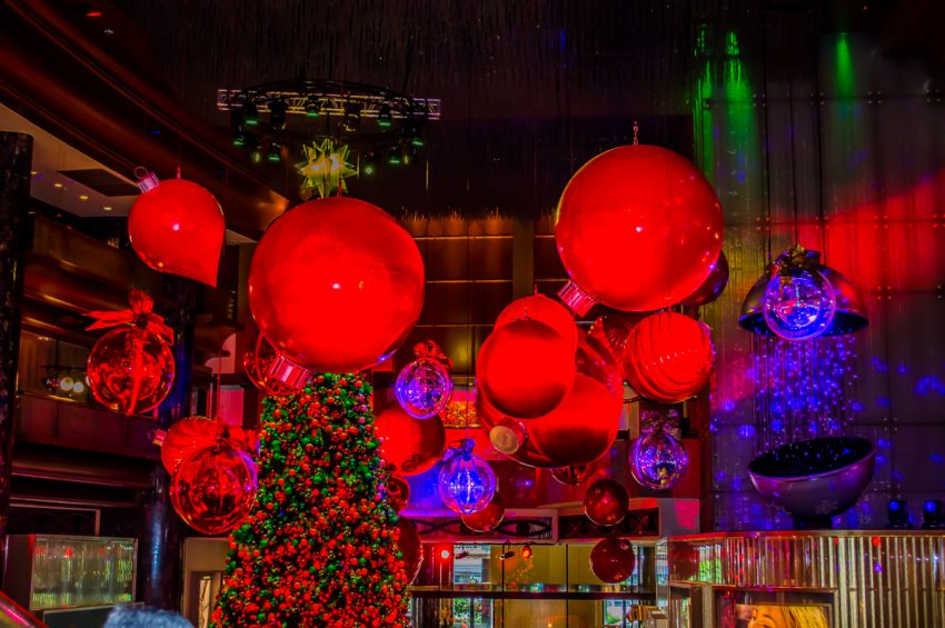 Celebrating a Melbourne Christmas at Crown Casino.