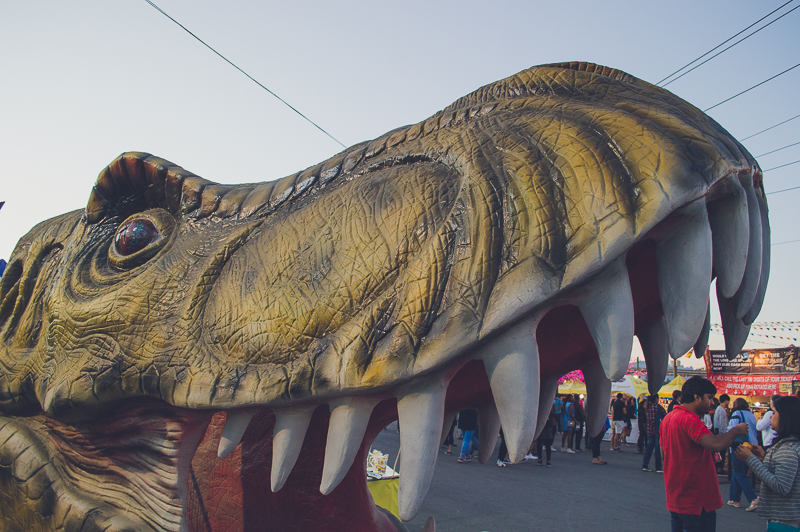 T-Rex at the Richmond Night Market outside Vancouver, Canada
