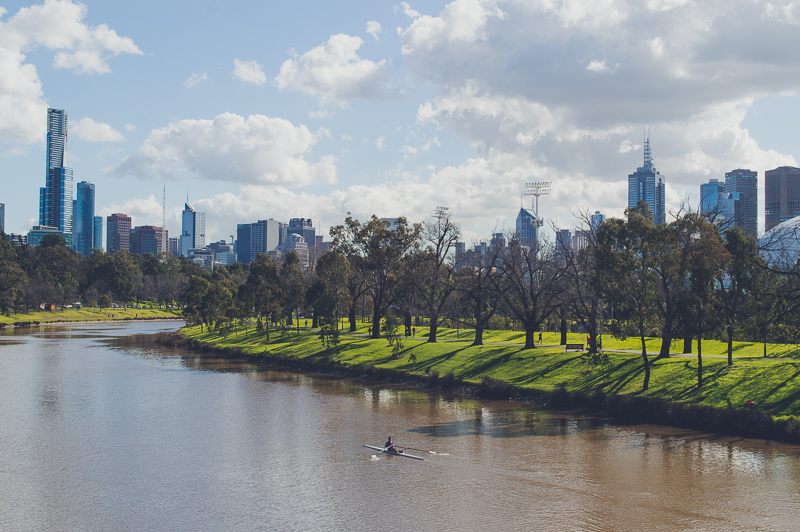 Melbourne Skyline from the Yarra River