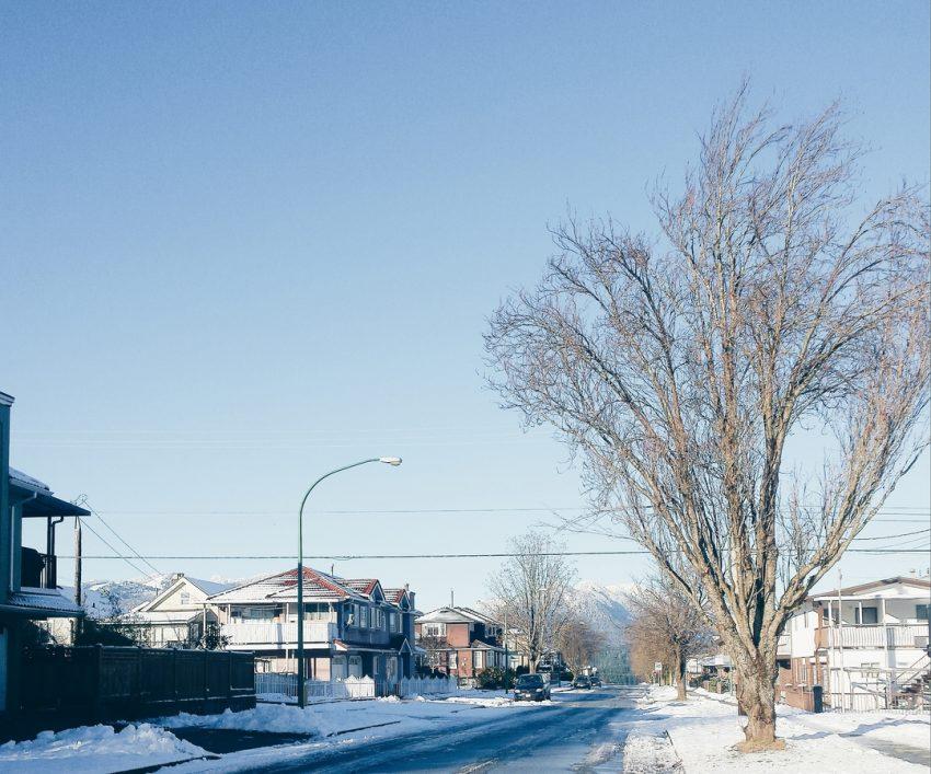 Snowy days in Burnaby, British Columbia