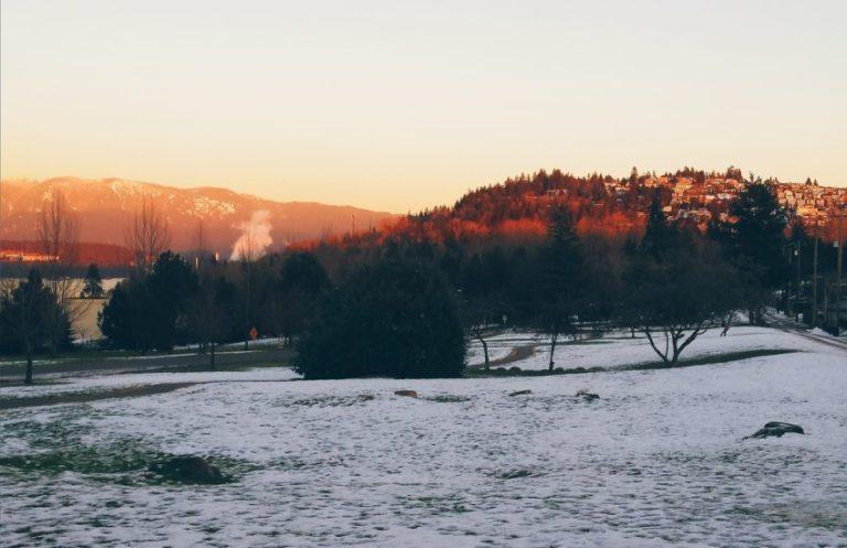 Golden hour in Burnaby, British Columbia