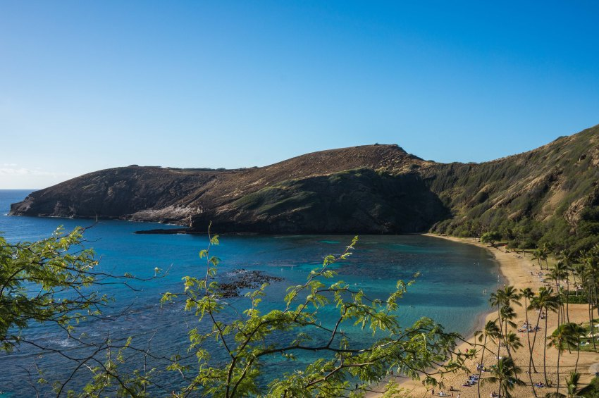 Hanauma Bay in Oahu, Hawaii