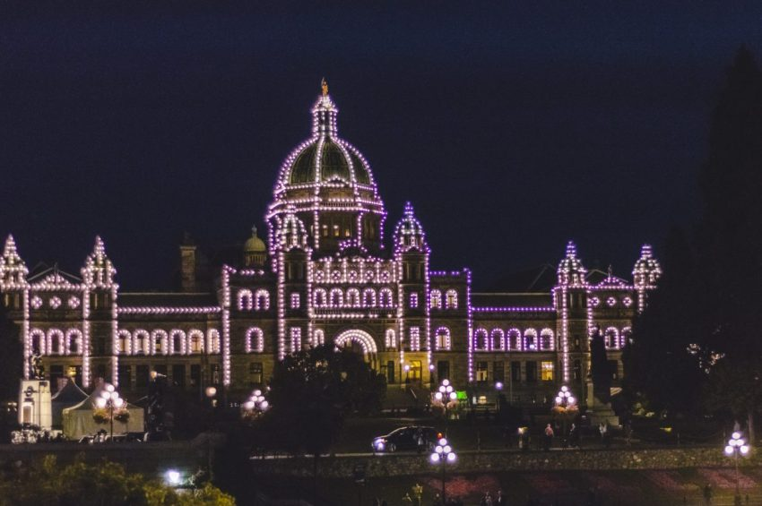 BC Legislature in Victoria, British Columbia