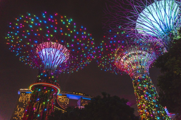 Singapore photos: Glowing Gardens by the Bay is one of the best things to do in Singapore.